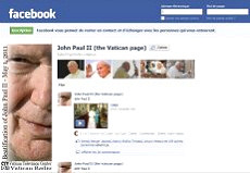 Jean-Paul II sur Facebook