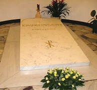 La tombe de Jean-Paul II